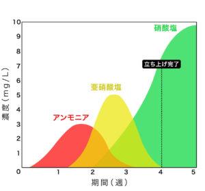 アクアポニックスの循環のグラフ